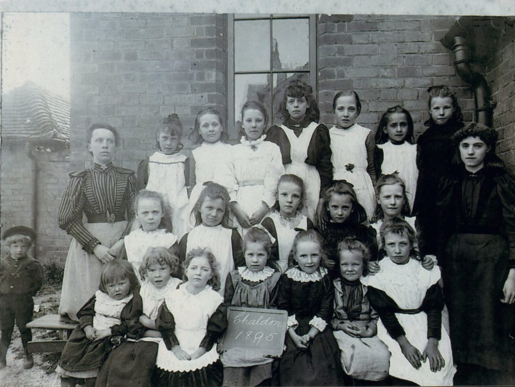 The children of Chaldon School 1895