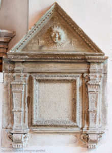 Early Renaissance wall tablet in Chaldon Church