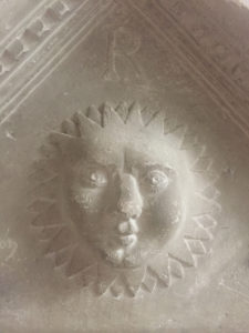 The face in the sun from the Memorial